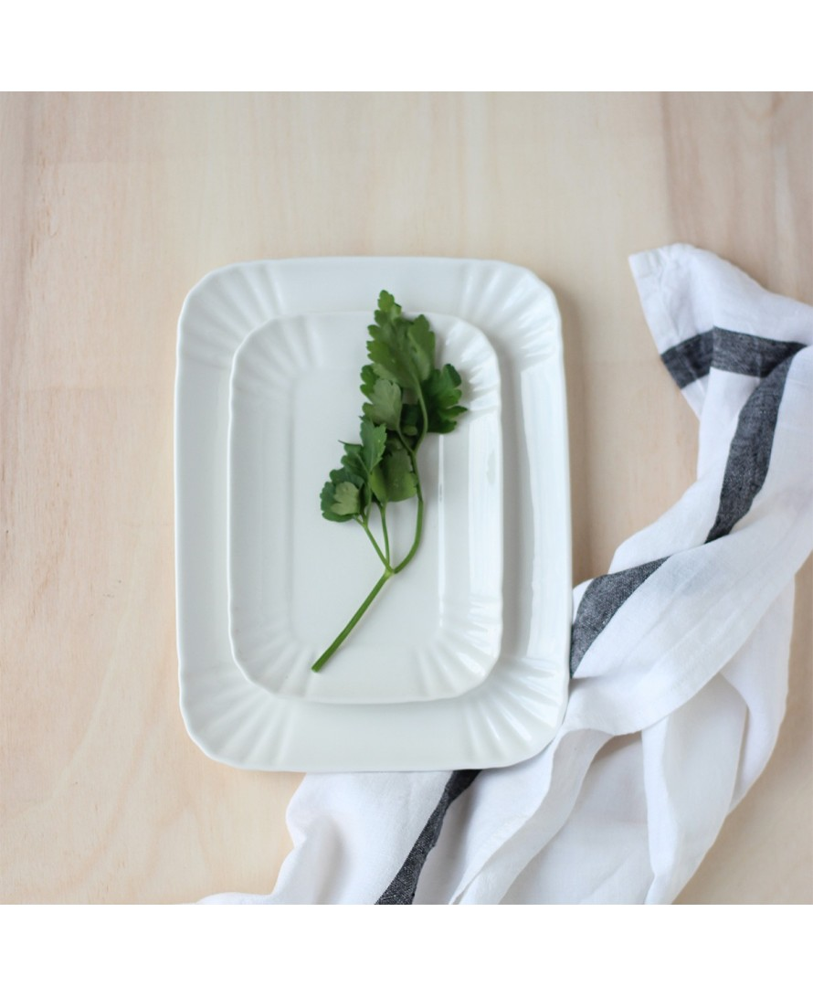 Plat rectangulaire porcelain trays